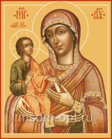 Троеручица икона Божией Матери, размер 300 х 400 мм (арт.105-00246)