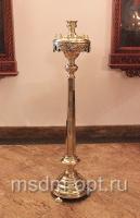 Подсвечник напольный, круглый (арт.25945)