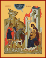 Поклонение волхвов, икона (арт.AC25)