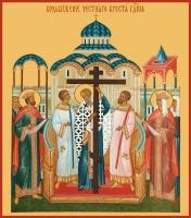 Воздвижение Честного и Животворящего Креста Господня, икона (арт.00649)