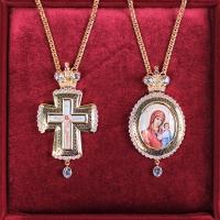 Крест и Панагия Казанская Божия Матерь. Двойник (арт.37509)