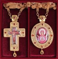 Крест и Панагия Казанская Божия Матерь. Двойник (арт.37510)