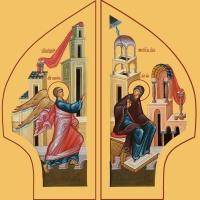 Благовещение Пресвятой Богородицы, иконы на Царские Врата (арт.6600)