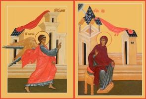 Благовещение Пресвятой Богородицы, иконы на Царские Врата (арт.6629)