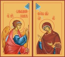 Благовещение Пресвятой Богородицы, иконы на Царские Врата (арт.6654)