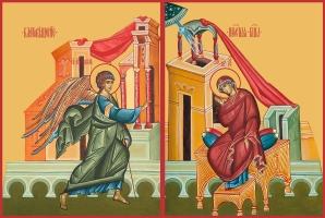 Благовещение Пресвятой Богородицы, иконы на Царские Врата (арт.6655)