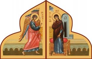 Благовещение Пресвятой Богородицы, иконы на Царские Врата (арт.6684)