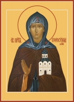 Евфросиния (Евдокия) Московская, преподобная, икона (арт.06850)