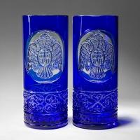 Стаканы для воды, пара. Цвет синий (арт. АС12)