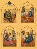 Евангелисты, иконы на Царские Врата (арт.6496-99)