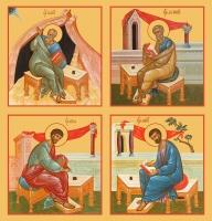 Евангелисты, иконы на Царские Врата (арт.6450-53)