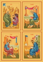 Евангелисты, иконы на Царские Врата (арт.6488-91)
