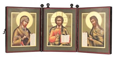 Деисусный чин, иконы в складне (арт.32784)