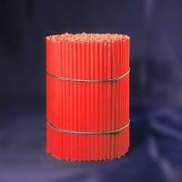 Свечи красные станочные восковые