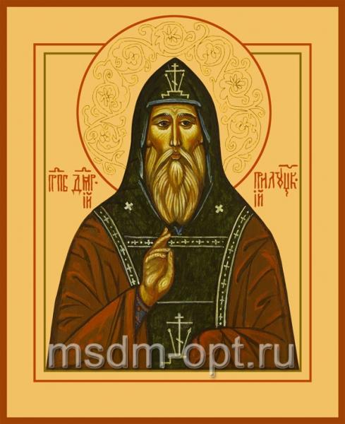 Димитрий Прилуцкий преподобный, чудотворец, икона (арт.001)