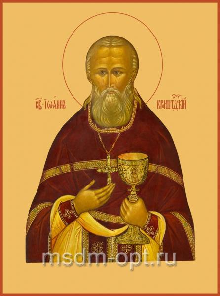 Иоанн Кронштадский праведный чудотворец, икона (арт.004)