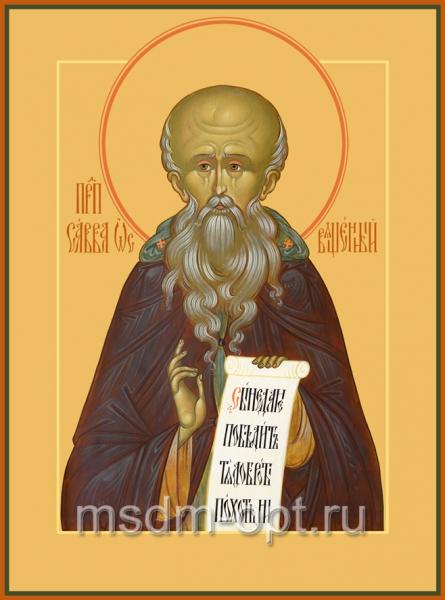 Савва Освященный преподобный, икона (арт.023)