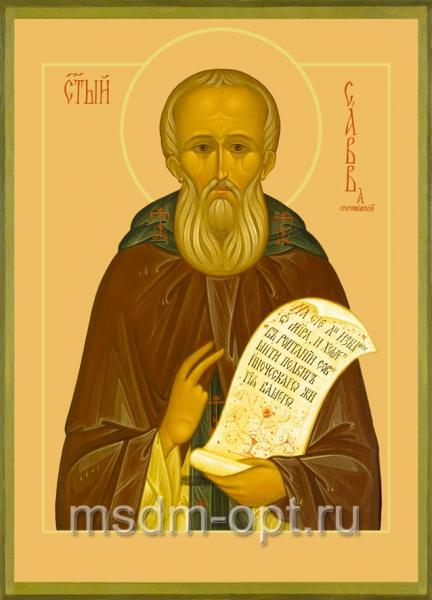 Савва Сторожевский преподобный, икона (арт.026)