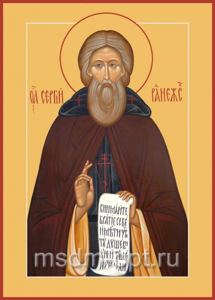 Сергий Радонежский преподобный, икона (арт.057)