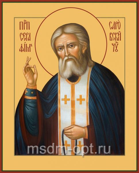 Серафим Саровский преподобный чудотворец, икона (арт.058)