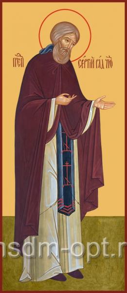 Сергий Радонежский преподобный, икона (арт.062)