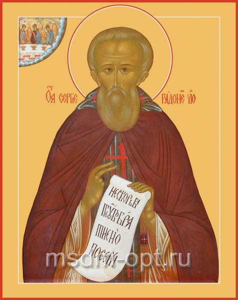 Сергий Радонежский преподобный, икона (арт.064)
