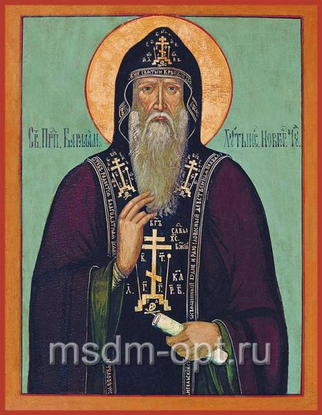Варлаам Хутынский преподобный, икона (арт.070)