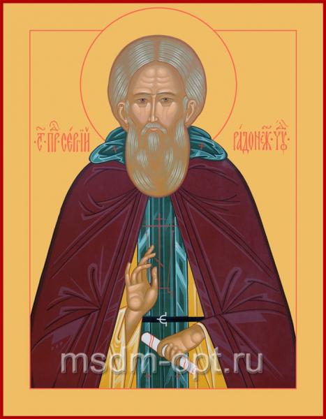 Сергий Радонежский преподобный, икона (арт.072)