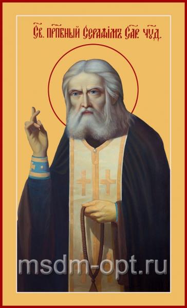 Серафим Саровский преподобный чудотворец, икона (арт.073)