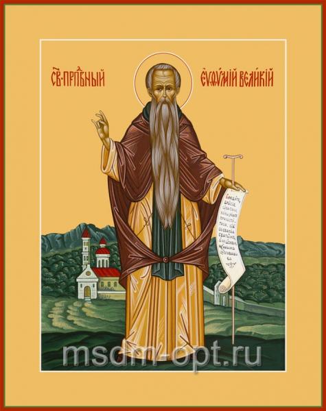 Евфимий Великий преподобный, икона (арт.076)
