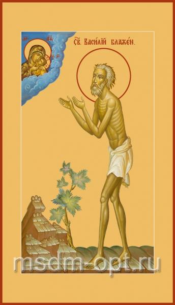 Василий Блаженный, Московский чудотворец, икона (арт.080)