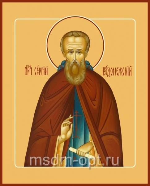 Сергий Радонежский преподобный, икона (арт.082)