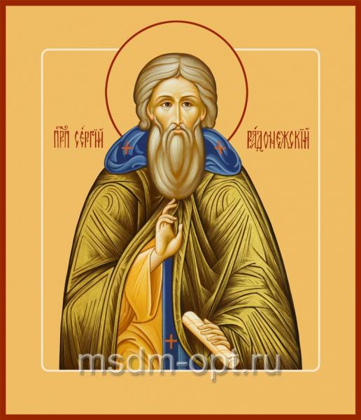 Сергий Радонежский преподобный, икона (арт.084)