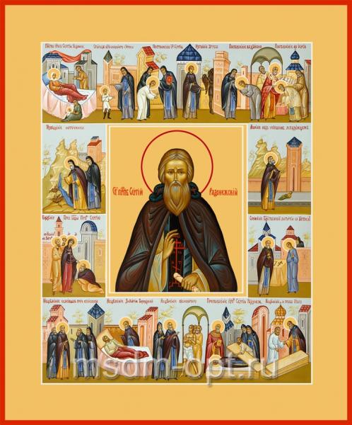 Сергий Радонежский преподобный, икона (арт.087)