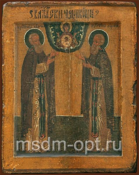 Сергий и Герман Валаамские преподобные, икона (арт.088)