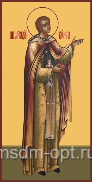 Аркадий Вяземский и Новоторжский преподобный, икона (арт.091)