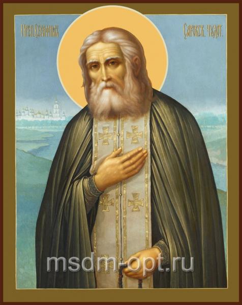 Серафим Саровский преподобный чудотворец, икона (арт.092)