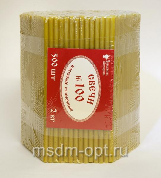 100 № ДМ Свечи станочные восковые