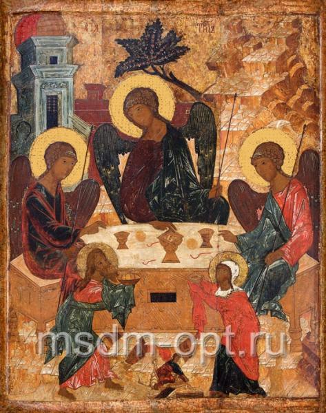 Святая Троица с Авраамом и Сарой, икона (арт.133)