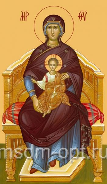 Божия Матерь на престоле, икона (арт.207)