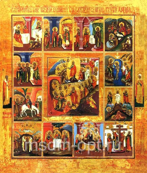 Двенадцать Праздников, икона