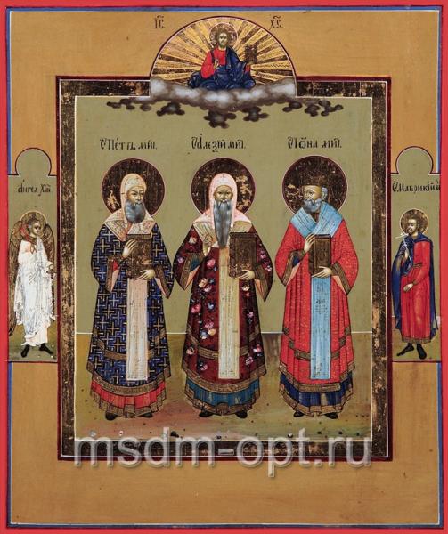 Петр, Алексий, Иона митрополиты Московские чудотворцы, икона