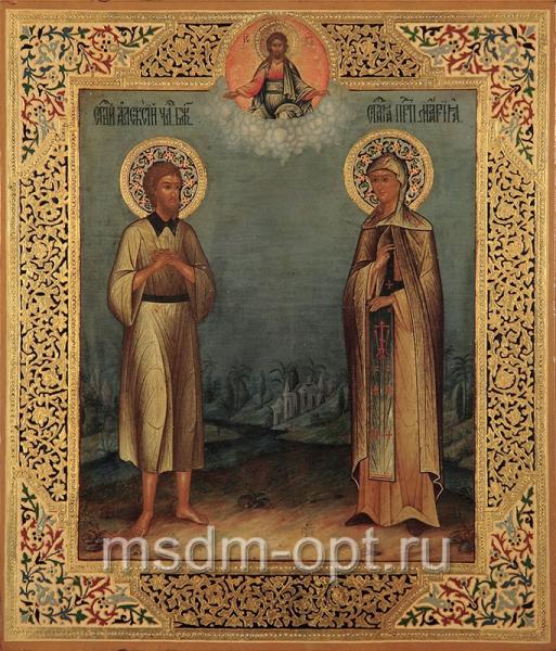 Алексий, человек Божий преподобный, Мария Египетская преподобная, икона