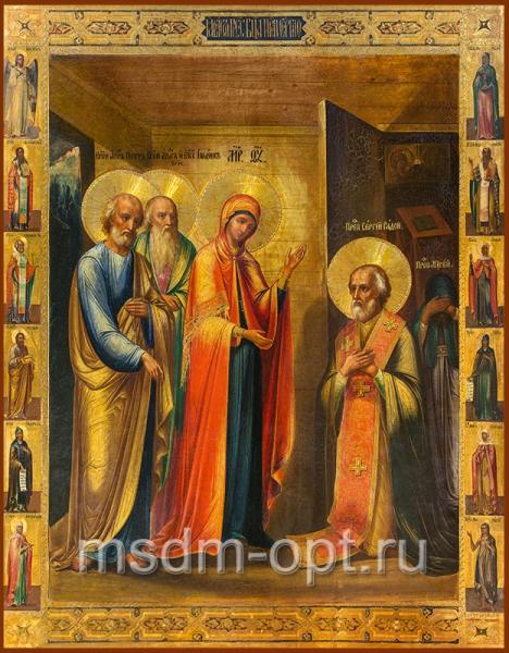 Явление Пресвятой Богородицы преподобному Сергию Радонежскому, икона (арт.03506)