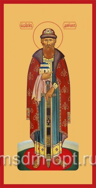 Даниил Московский благоверный князь (в княжеском облачении), икона (арт.402)