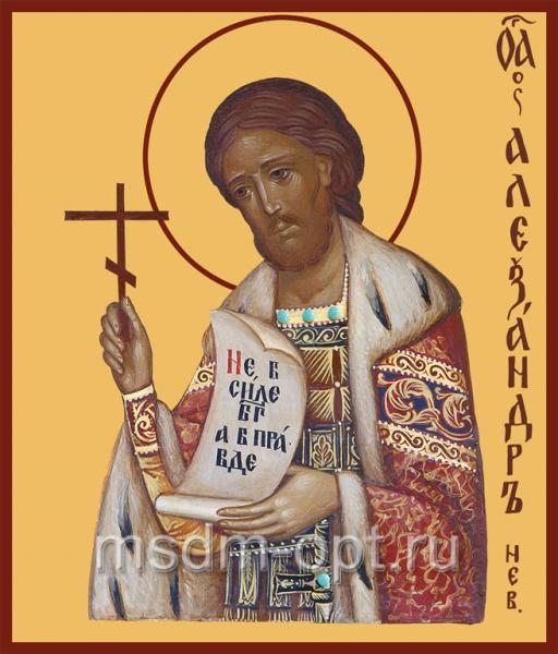 Александр Невский благоверный князь, икона (арт.410)