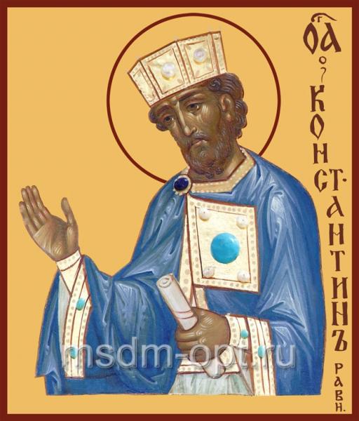 Константин равноапостольный царь, икона (арт.415)