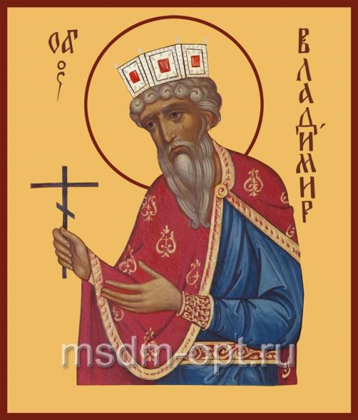 Владимир равноапостольный великий князь, икона (арт.434)