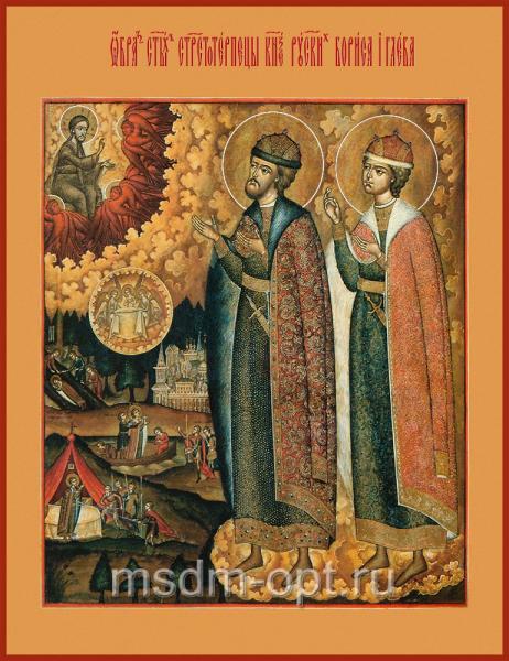 Борис и Глеб благоверные князья-страстотерпцы, икона