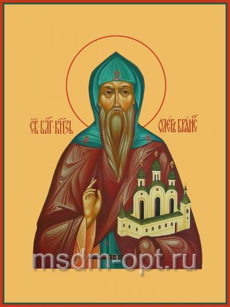 Олег Брянский благоверный князь, икона (арт.440)